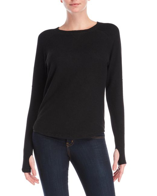 Sweet Romeo - Black Long Sleeve Thumbhole Sweater - Lyst