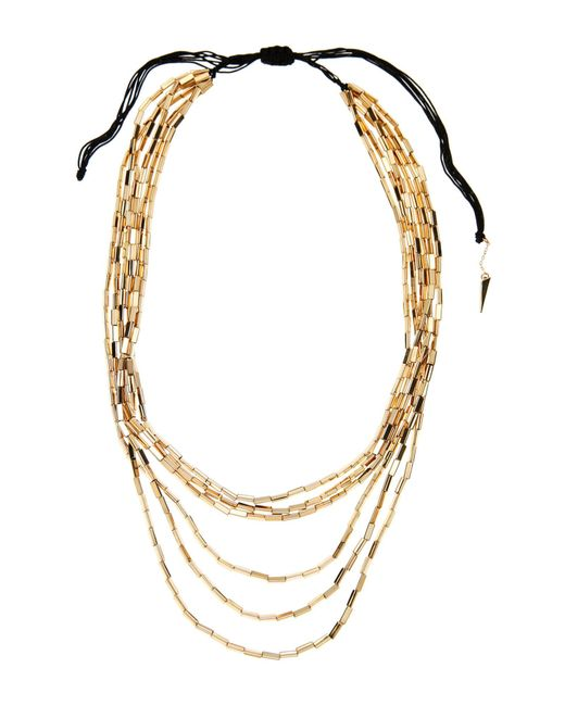 House of Harlow 1960 | Metallic Gold-Tone Beaded 6-Strand Necklace | Lyst