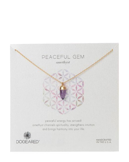 Dogeared   Multicolor Gold-Tone Peaceful Gem Amethyst Necklace   Lyst
