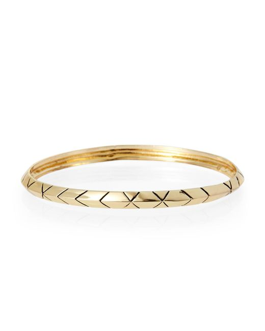 House of Harlow 1960 | Metallic Gold-Tone Aztec-Inspired Bangle | Lyst