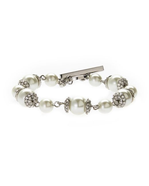 Givenchy | Metallic Faux Pearl Toggle Bracelet | Lyst