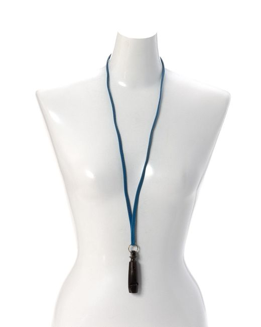 Lyst herms whistle necklace vintage in blue herms blue whistle necklace vintage lyst aloadofball Gallery