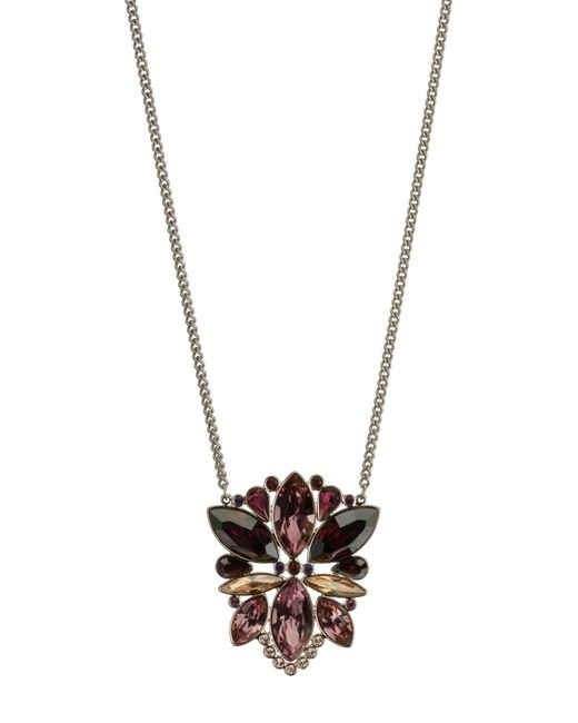 Swarovski | Metallic Valina Crystal Pendant Necklace | Lyst