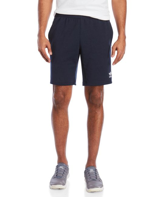Adidas - Blue Classic Stripe Shorts for Men - Lyst
