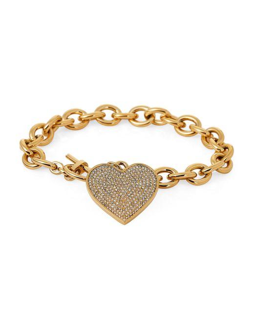 Michael Kors - Metallic Gold-tone Heart Charm Bracelet - Lyst