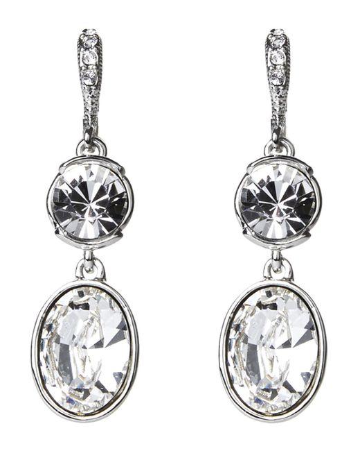 Givenchy - Metallic Silver-Tone Drop Earrings - Lyst