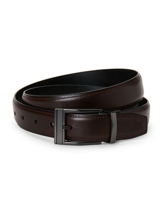 Kenneth Cole Reaction - Black Reversible Faux Leather Belt for Men - Lyst