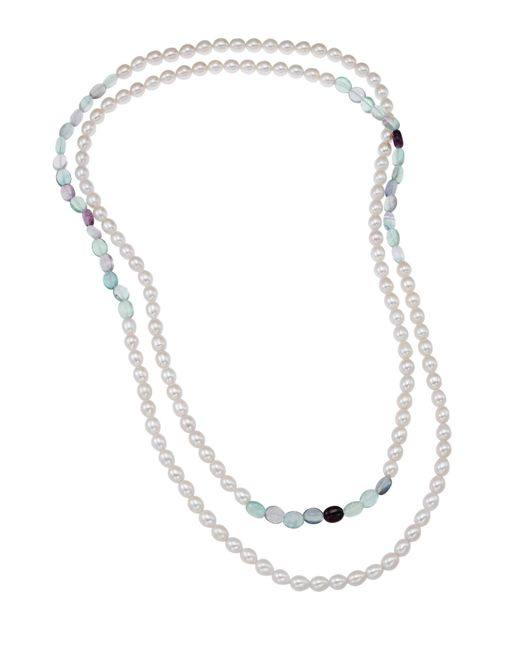 Tara Pearls - Multicolor Freshwater Pearl & Fluorite Necklace - Lyst