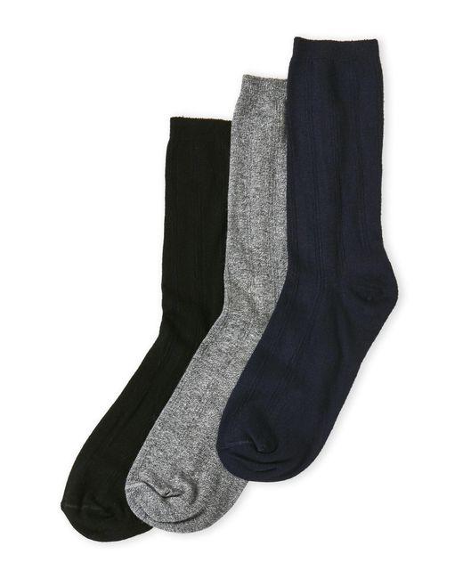 Hue | Gray 3-Pack Triple Rib Socks for Men | Lyst