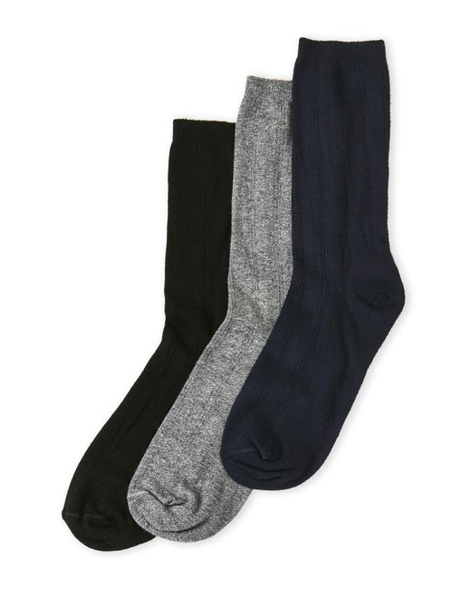 Hue - Gray 3-Pack Triple Rib Socks for Men - Lyst