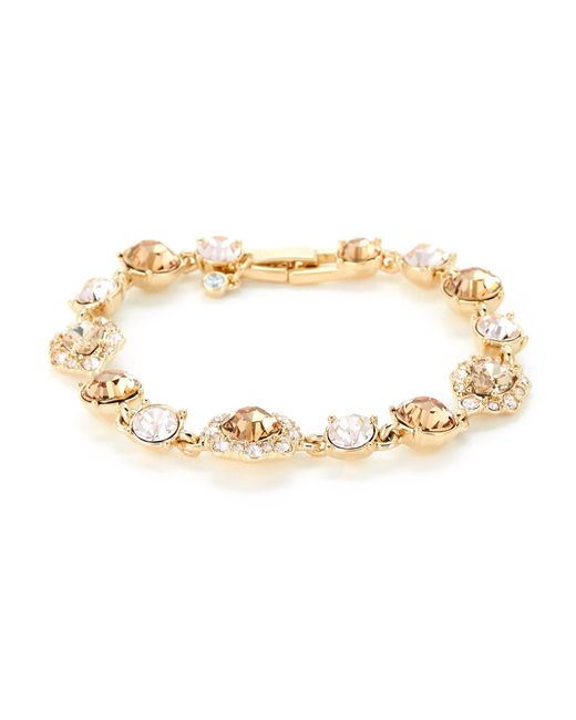 Givenchy - Metallic Gold-tone Crystal-accented Bracelet - Lyst