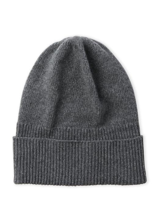 Portolano | Gray Solid Cashmere Ribbed Cuff Hat | Lyst