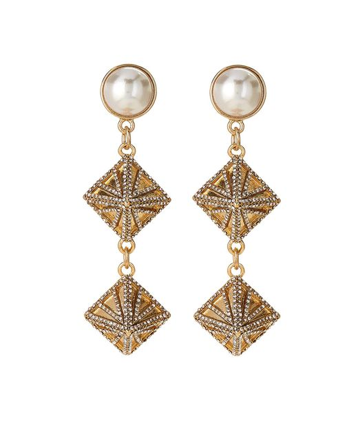Lulu Frost - Metallic Gold-tone Apex Faux Pearl Drop Earrings - Lyst