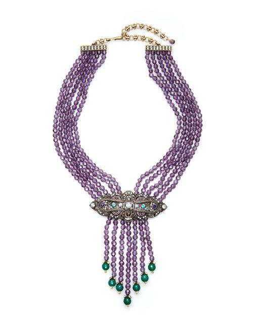 Heidi Daus | Multicolor Purple Swirl Design Necklace | Lyst