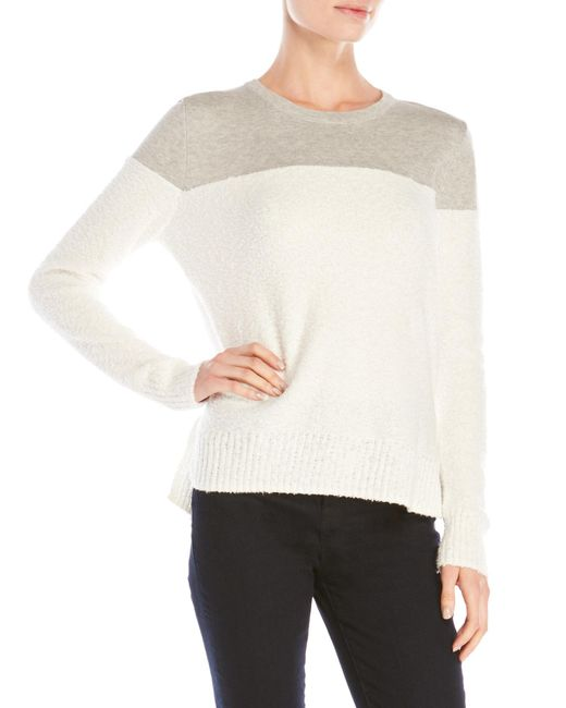 Shae | White Color Block Sweater | Lyst