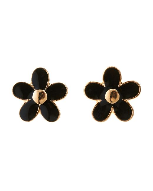 Marc By Marc Jacobs | Gold-Tone & Black Daisy Studs | Lyst