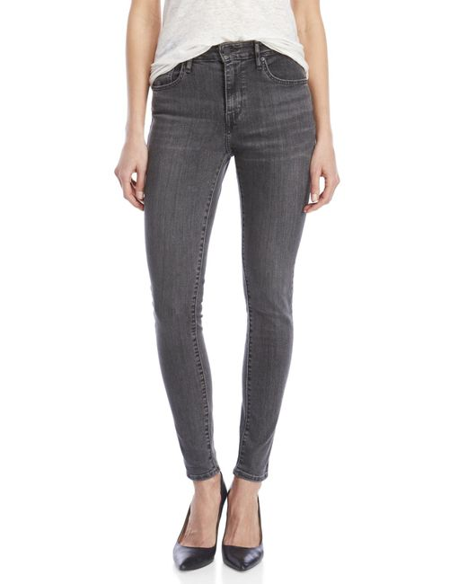 Levi's - Gray Grey 721 High-rise Skinny Jeans - Lyst