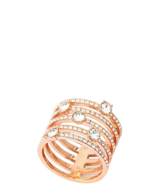 Swarovski - Metallic Rose Gold-tone Creativity Wide Ring - Lyst