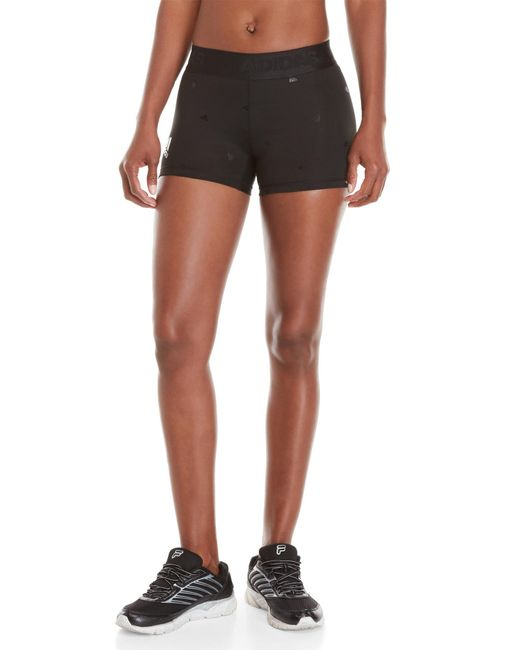 Adidas - Black Embossed Logo Print Running Shorts - Lyst