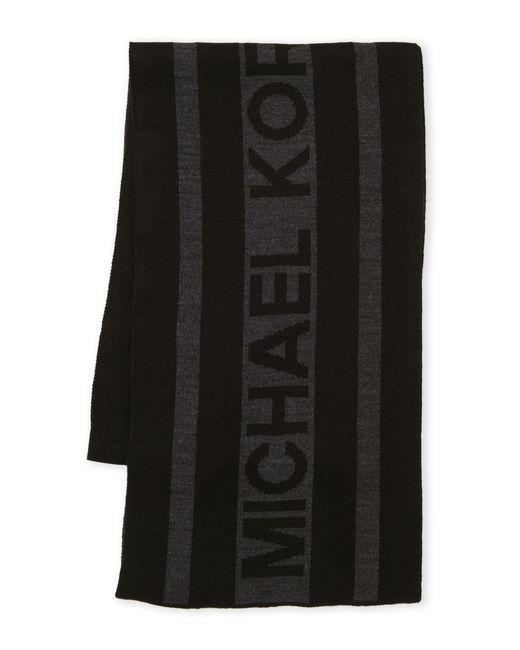 MICHAEL Michael Kors - Black Vertical Logo Scarf for Men - Lyst