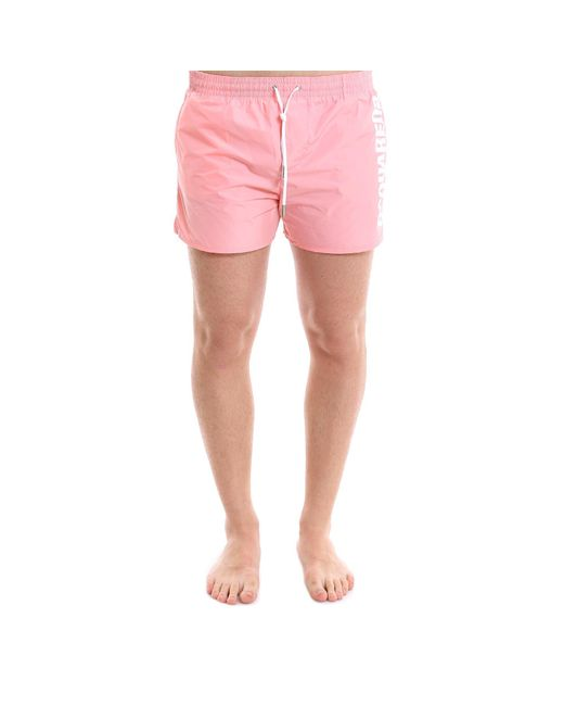 DSquared² - Pink Logo Swim Shorts for Men - Lyst