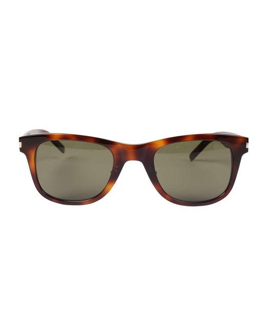 000813475b7 Saint Laurent Tortoise Shell Effect Sunglasses in Brown for Men - Lyst