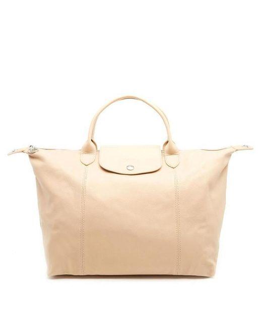 Longchamp - Pink Le Pliage Cuir Tote Bag - Lyst