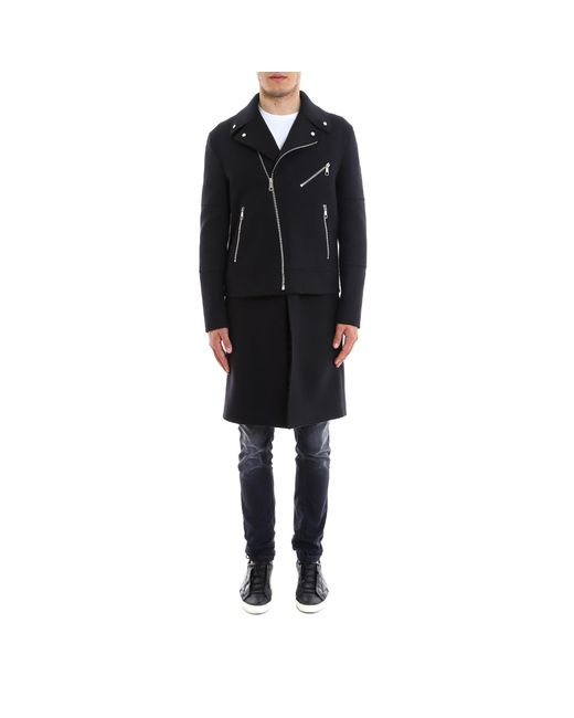 Neil Barrett - Black Convertible Layered Biker Coat for Men - Lyst