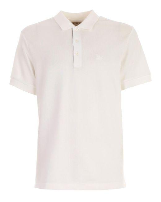 Burberry - White Hartford Polo Shirt for Men - Lyst
