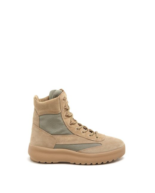 82207be6e Lyst - Yeezy Hi Top Lace Up Sneakers in Natural for Men