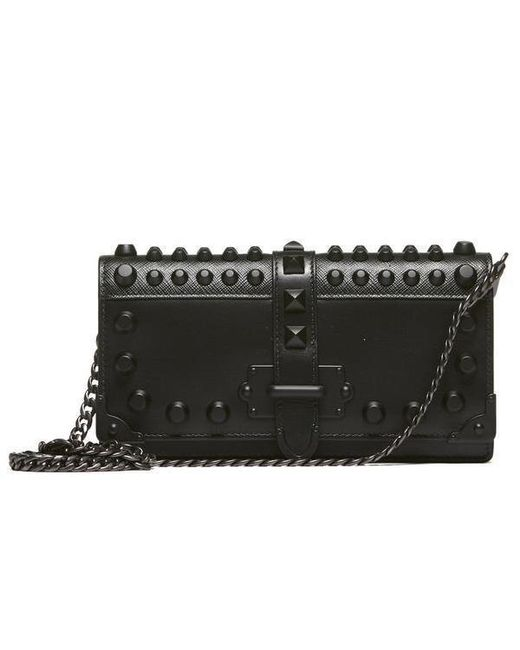 556b13c04690 Prada Mini Cahier Chain Strap Clutch in Black - Lyst