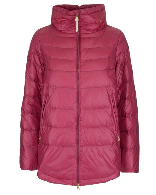 Woolrich - Red Down Padded Jacket - Lyst