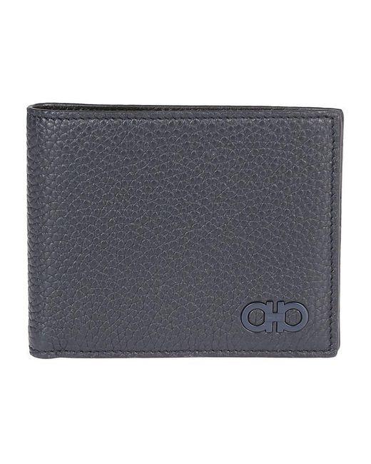 Ferragamo - Blue Double Gancini Logo Wallet for Men - Lyst