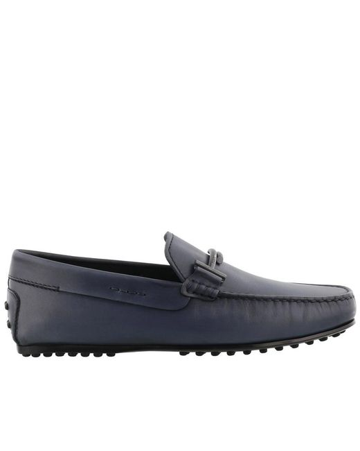 Tod's - Blue Gommino Loafers for Men - Lyst