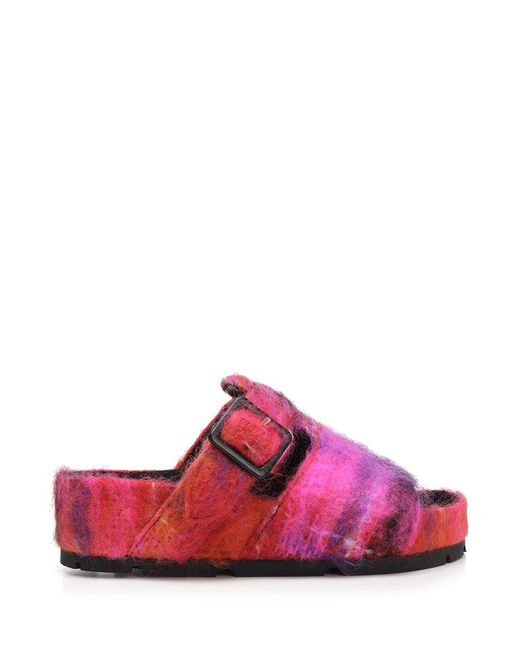 Céline - Pink Slip-on Buckled Sandals - Lyst