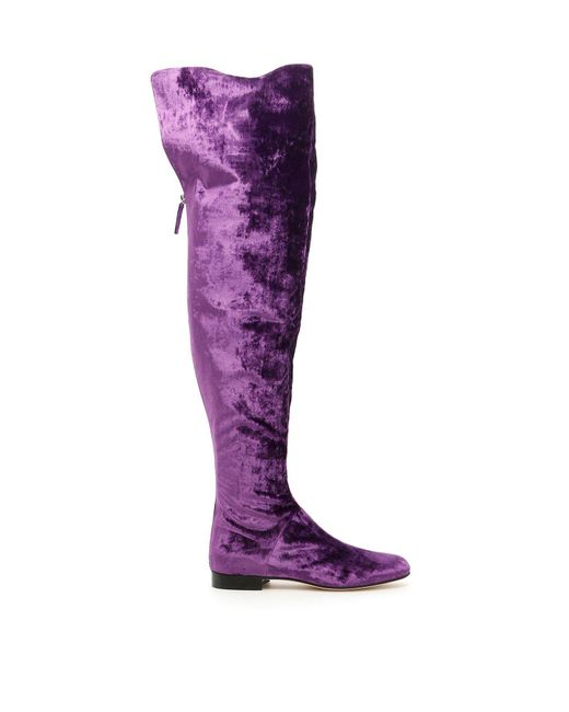 Alberta Ferretti - Purple Over-the-knee Boots - Lyst