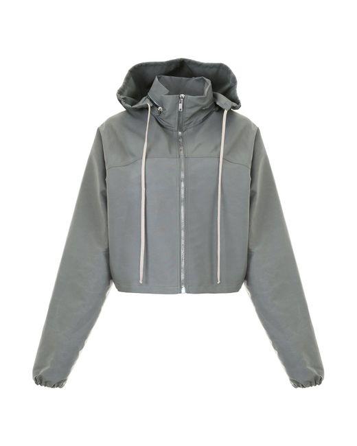 Rick Owens - Green Rainproof Cropped Hooded Jacket for Men - Lyst