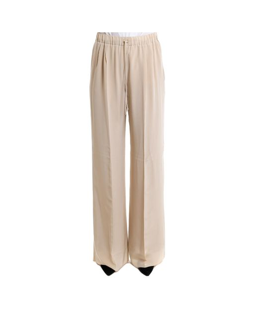 Max Mara - Natural Wide Legged Trousers - Lyst