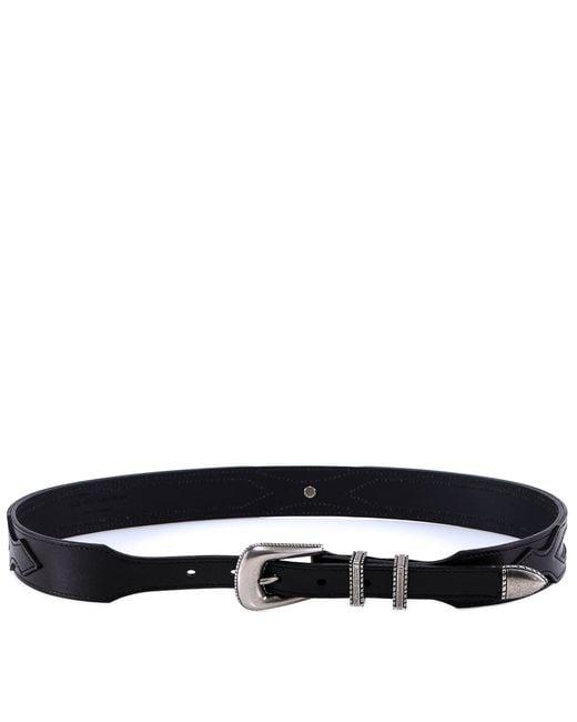 Saint Laurent - Black Buckle Belt for Men - Lyst