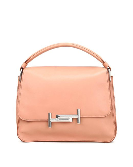 Tod's - Pink Double T Leather Shoulder Bag - Lyst