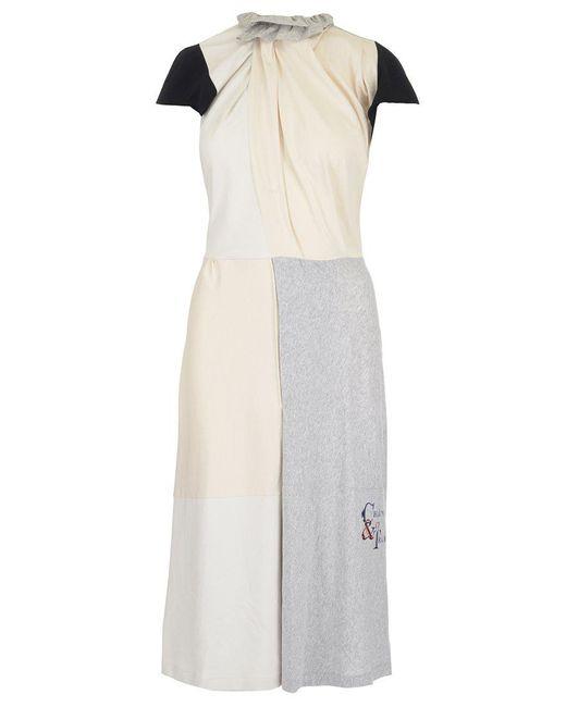 Balenciaga - Multicolor Contrasting Panel Dress - Lyst