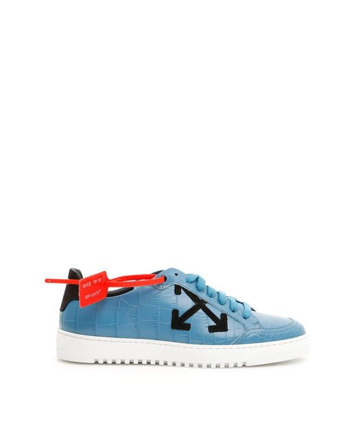 Off-White c/o Virgil Abloh - Blue Croc Effect 3.0 Sneakers - Lyst