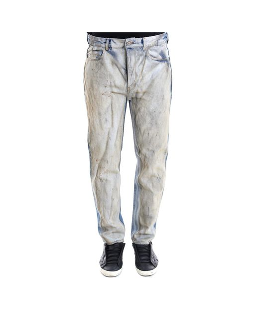 Golden Goose Deluxe Brand - Gray Distressed Colour Block Jeans for Men - Lyst