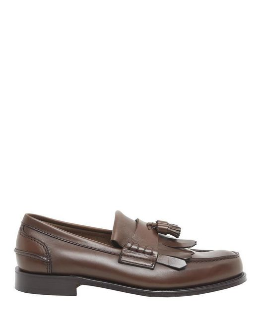 Church's - Brown Fringed Tassel Loafers - Lyst