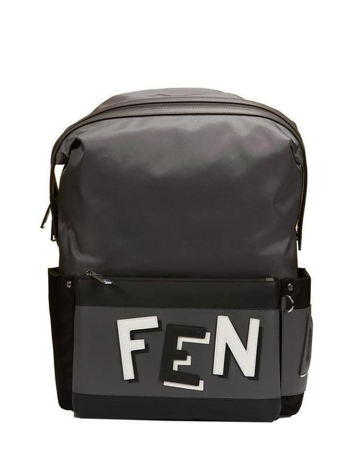 571fea95a240 Lyst - Fendi Colorblock Logo Backpack in Gray