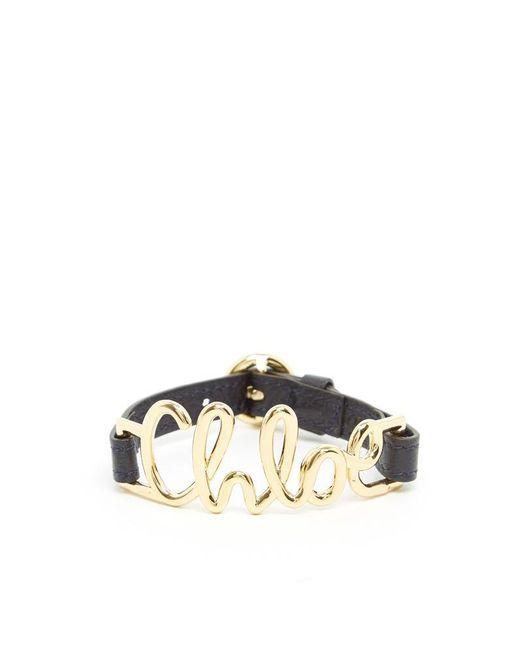 Chloé - Blue Logo Bracelet - Lyst