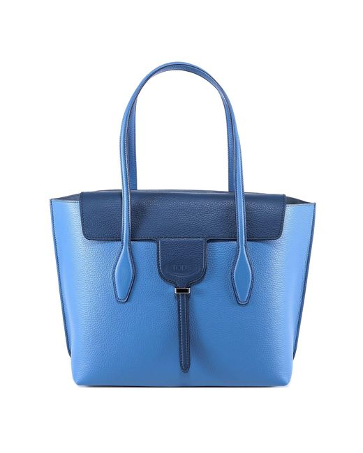 Tod's - Blue Handbag Shopping Bag Purse Tote In Pelle Joy - Lyst