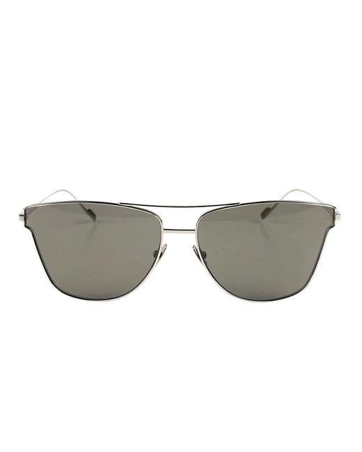 cddc5ec313c Saint Laurent Cat Eye Sunglasses in Green for Men - Lyst