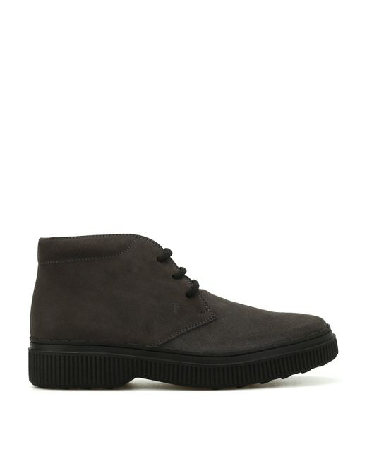 Tod's - Brown Lace-up Suede Ankle Boots for Men - Lyst