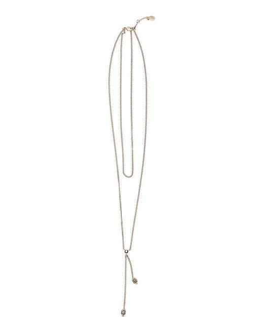 Alexander McQueen - Metallic Wrap Chain Skull Necklace - Lyst